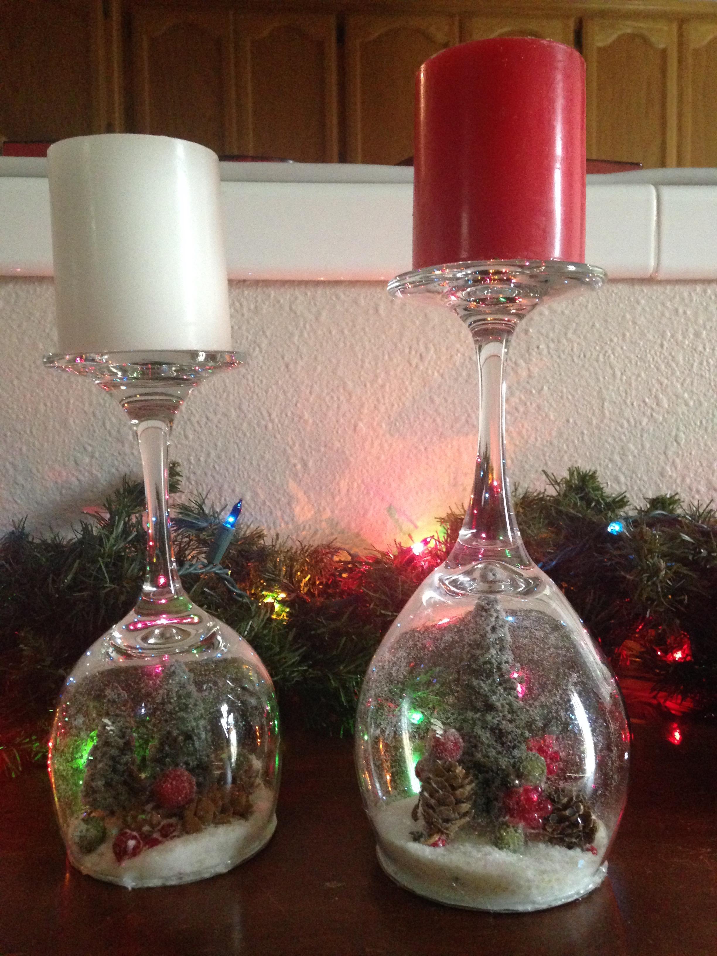 Diy Wine Glass Snow Globes Anika Burke