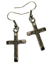 Cross. Earrings