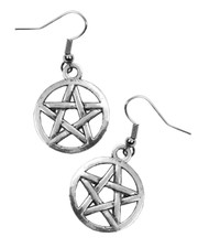 Pentagram. Earrings