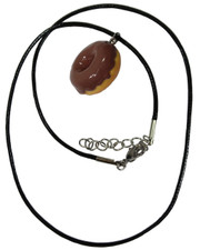 Doughnut. Wax cord Necklace.