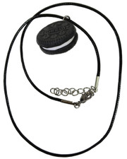 Oreo. Waxed Cord Necklace