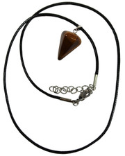 Tigers Eye Crystal Pendulum Pendant.