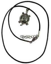 Turtle. Wax cord necklace.