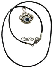 Third Eye. Wax cord necklace
