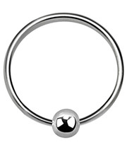 Nose ring. Silver Open Ring With Ball.