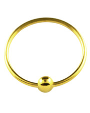 Gold Plate Open Ring With Ball. Full ring, 925 Silver.