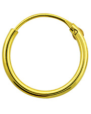Hinged Silver Hoop. Gold Plated.