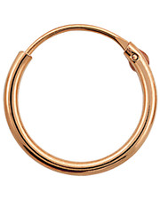 Hinged Silver Hoop. Rose Gold Plated.