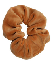 Toffee velvet scrunchie