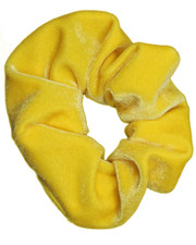 yellow velvet scrunchie