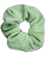 Mint green velvet scrunchie