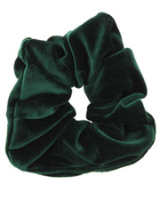 bottle green velvet scrunchie