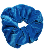 Sea blue velvet scrunchie