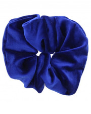 Royal blue velvet scrunchie