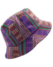 Bucket hat. Purple ethnic