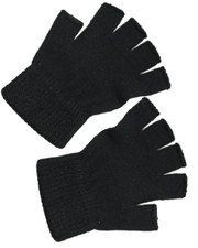 Fingerless gloves. black .one size