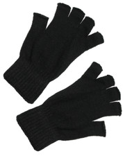 Fingerless gloves. black .Sized