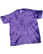 TIE DYE T SHIRT. PURPLE SPIRAL