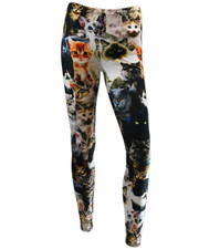 PRINTED LEGGINGS. CAT COLLAGE