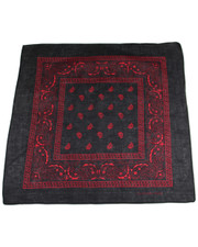 PAISLEY BANDANA. BLACK RED