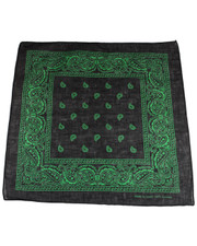 PAISLEY BANDANA. BLACK GREEN