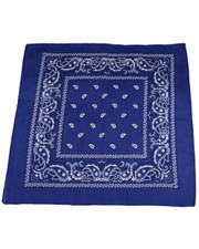 PAISLEY BANDANA. ROYAL BLUE