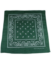 PAISLEY BANDANA. BOTTLE GREEN