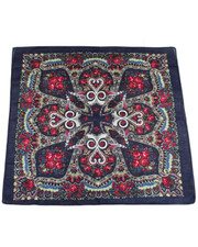 PATTERN BANDANA. NAVY FLOWER