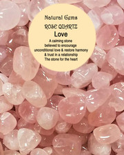 Crystal tumblestone. Rose quartz