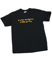 I Poke Badgers With Spoons. T-Shirt.