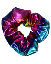 Space girl scrunchie. Rainbow