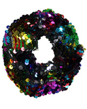 Sequin scrunchie. Rainbow