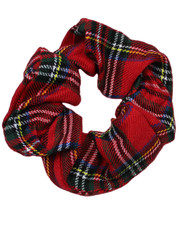 Pattern scrunchie. Red tartan
