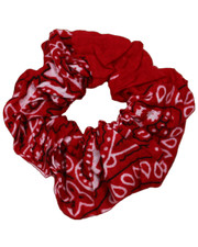 Pattern scrunchie. Red Paisley