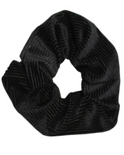Pin cord scrunchie. Black