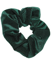 Pin cord scrunchie. Bottle green