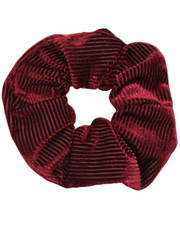 Pin cord scrunchie. Burgundy