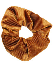 Pin cord scrunchie. Caramel