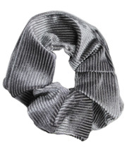 Pin cord scrunchie. Grey
