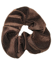 Pin cord scrunchie. Brown
