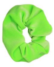 Plush scrunchie. Neon Green