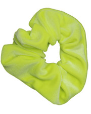 Plush scrunchie. Neon Yellow