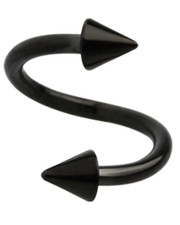 BLACK PVD SURGICAL STEEL CONED SPIRAL.