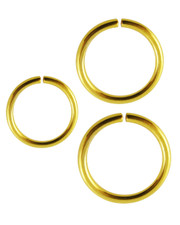 Open ring. Gold PVD Surgical steel