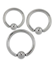 Ball closure ring. Surgical steel