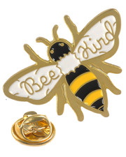 Bee kind. Pin badge