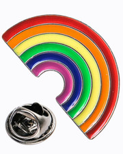 Rainbow. Pin badge