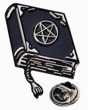 Witchcraft book. Pin badge