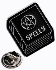 Pentagram spell book. Pin badge