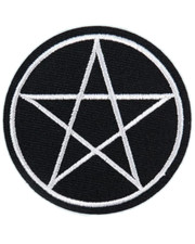 IRON ON PATCH. PENTAGRAM A